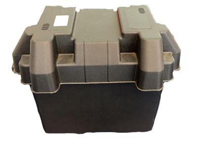 <p>caixa de acondicionamento e prote�‹o da bateria 12v. Inclui: Correia e Kit de montagem Comprim. 28cm-Larg.20cm- alt.26cm</p>